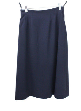Hermes Blue Navy Wool DNR Skirt 1
