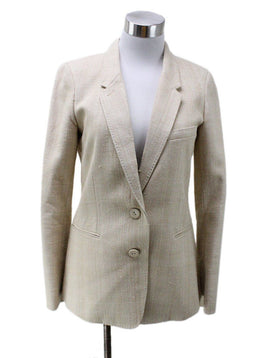 Hermes Size 2 Neutral Tan Wool Jacket