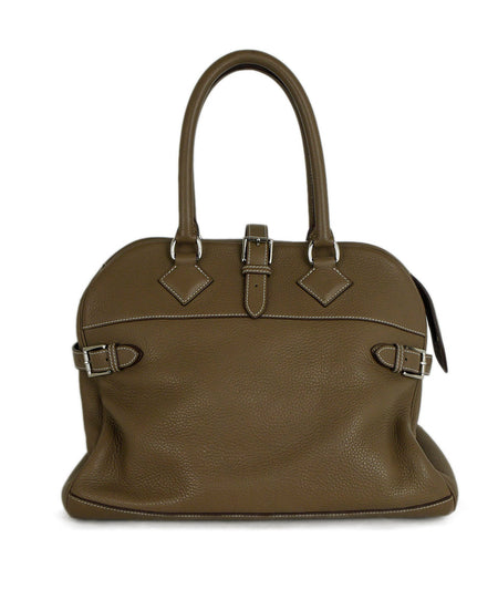 Furla Metallic Bronze Monogram Shoulder Bag