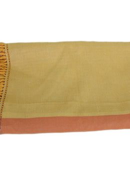 Hermes Orange Yellow White Linen Throw Blanket 3