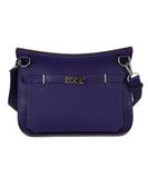 Hermes purple leather Jypsiere 31 bag 1