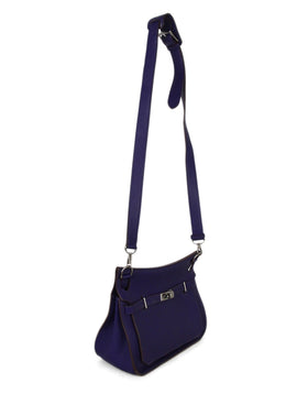 Hermes purple leather Jypsiere 31 bag 2