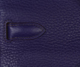 Hermes purple leather Jypsiere 31 bag 8