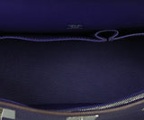 Hermes purple leather Jypsiere 31 bag 6