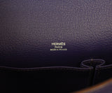 Hermes purple leather Jypsiere 31 bag 7