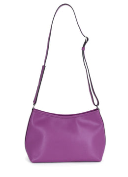 Hermes Purple Leather Shoulder Bag Handbag 1