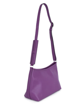 Hermes Purple Leather Shoulder Bag Handbag 2