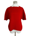 Hermes Red Cotton Sweater Half Zip Sweater 1