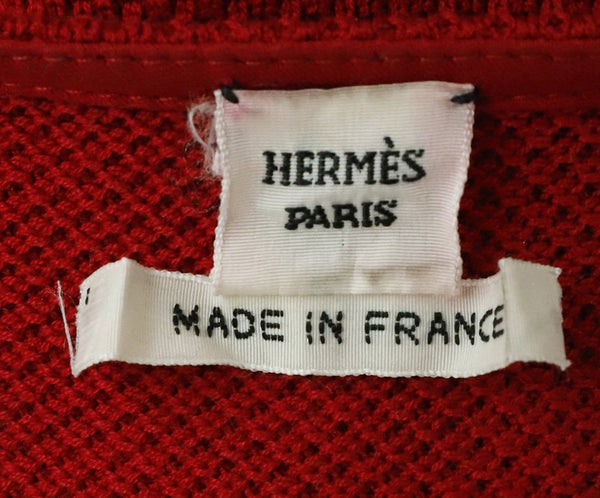 Hermes Red Cotton Sweater Half Zip Sweater 4