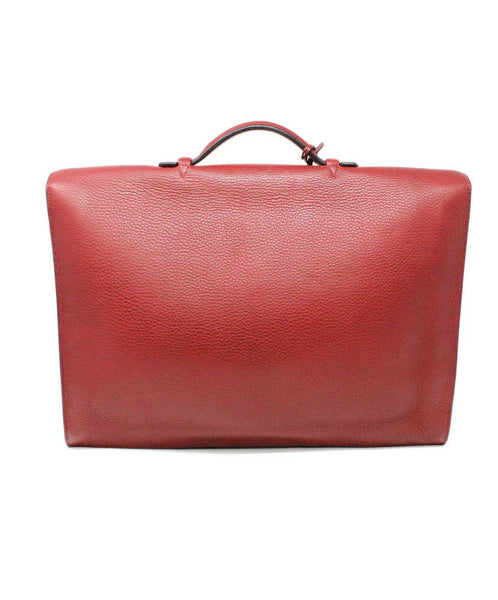 Hermes Red Leather Briefcase 2