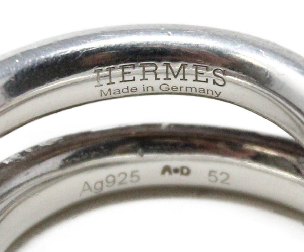 Hermes Sterling Silver Ring 3