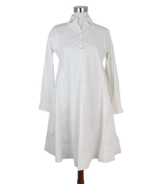 Hermes white cotton dress 1