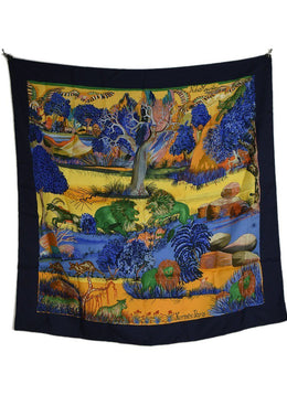 "Hermes ""Nuba Mountains"" Silk Scarf 