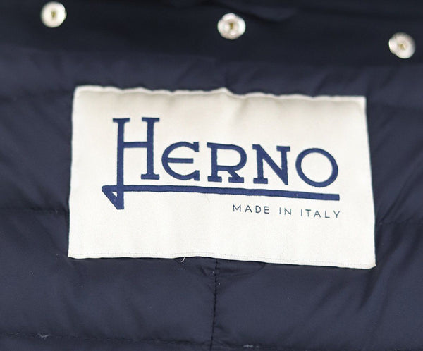 Herno Black Down Jacket Fur Collar Size 2