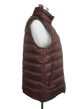 Herno Grey Burgundy Down Lining Reversible Vest 2