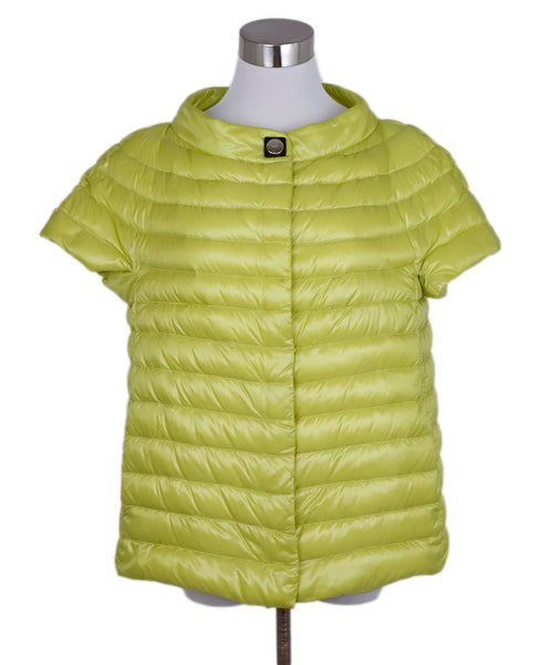 Herno Yellow Chartreuse Nylon Quilted Jacket 1