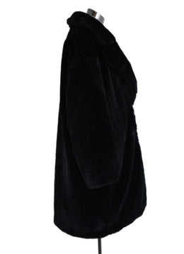 Herno Black Faux Fur Down Lining Coat Outerwear 2