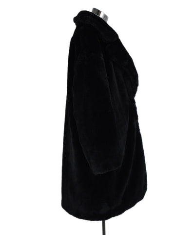 Herno Black Faux Fur Down Lining Coat Outerwear 1
