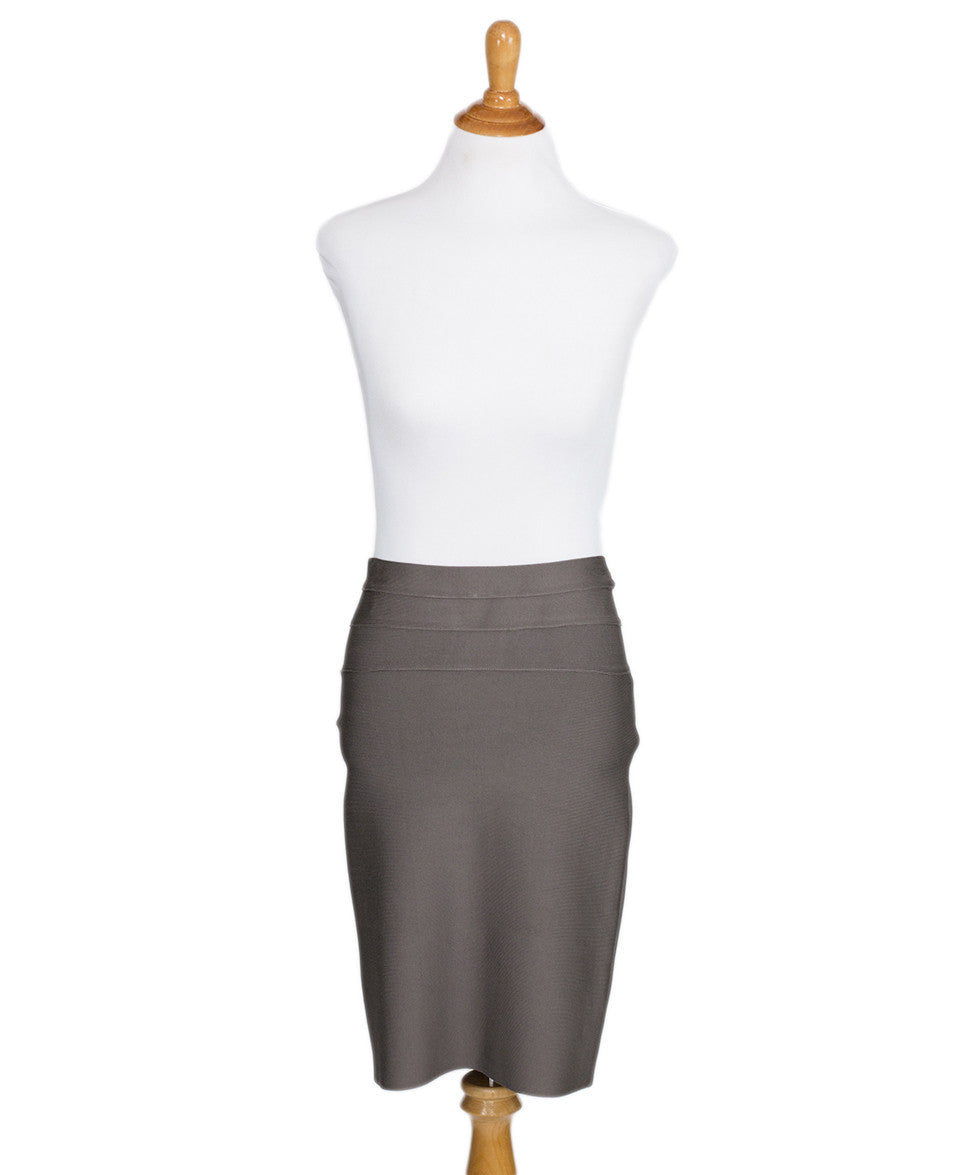 Herve Leger Taupe Skirt Sz 4 - Michael's Consignment NYC  - 1