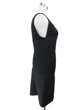 Herve Leger Black Polyamide Spandex Dress 2