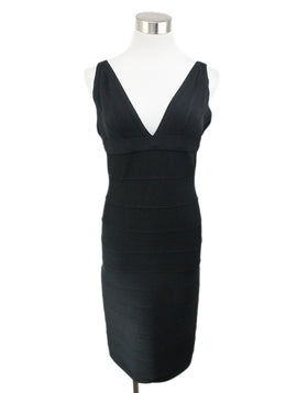 Herve Leger Black Polyamide Spandex Dress 1