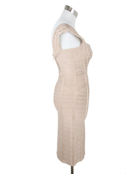 Herve Leger Nude Nylon Spandex Dress 2