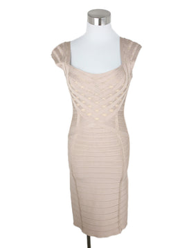 Herve Leger Nude Nylon Spandex Dress 1