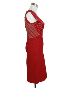 Herve Leger Red Nylon Spandex Bandage Dress 2