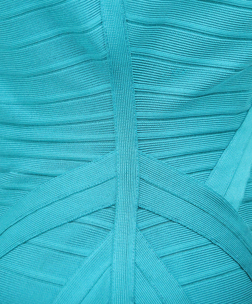 Herve Leger Teal Green Viscose Dress 5