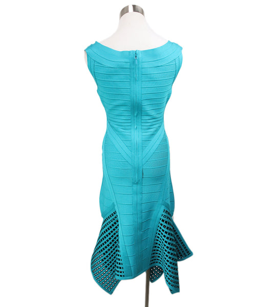 Herve Leger Teal Green Viscose Dress 3