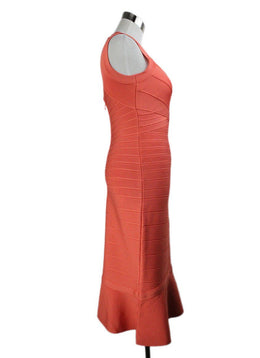 Herve Leger Orange Polyester Spandex Dress 2