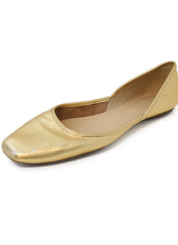 Hogan Gold Leather Flats