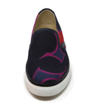 Hermes Black Slip-on Canvas Sneaker with Multi Print 2