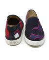 Hermes Black Slip-on Canvas Sneaker with Multi Print 3