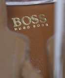 Hugo Boss Blue Suede Tan Leather Sling Backs Heels 7