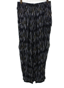 IRO Black White Striped Pants