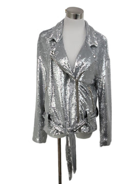 IRO Metallic Silver Sequins Jacket 1