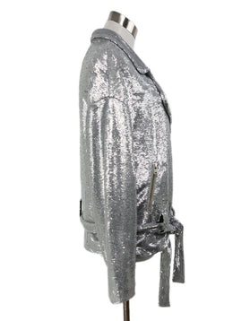 IRO Metallic Silver Sequins Jacket 2