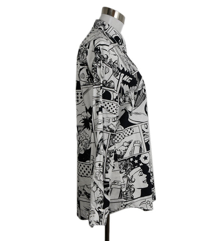 Iceberg Black White Print Cotton Shirt 1