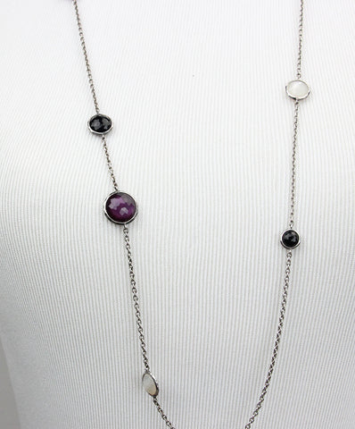 Ippolita Mother-Of-Pearl, Purple, Black Silver Necklace 1