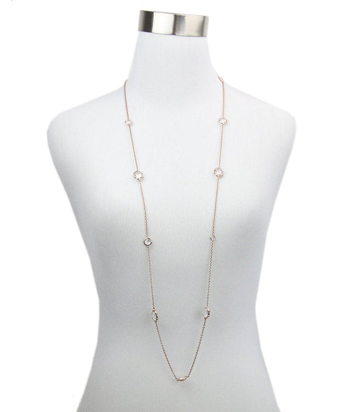 Ippolita Pink Rose Gold Quartz Necklace 1