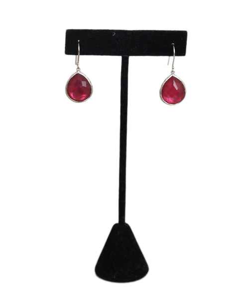 Ippolita Pink Stone sterling silver earrings 1