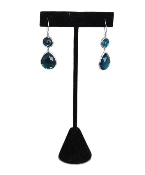 Ippolita Sterling silver Blue topaz earrings 1