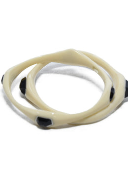Ippolita Ivory Resin Black Onyx 2pc. Bracelet 3