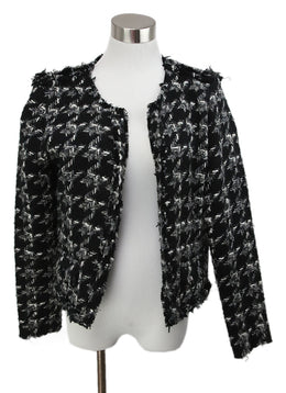 IRO Black White Grey Tweed Wool Jacket 1