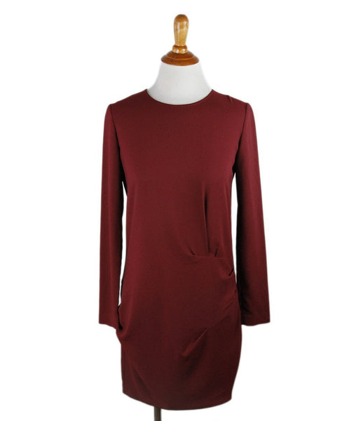 Iro Red Burgundy Polyester Dress Sz 36