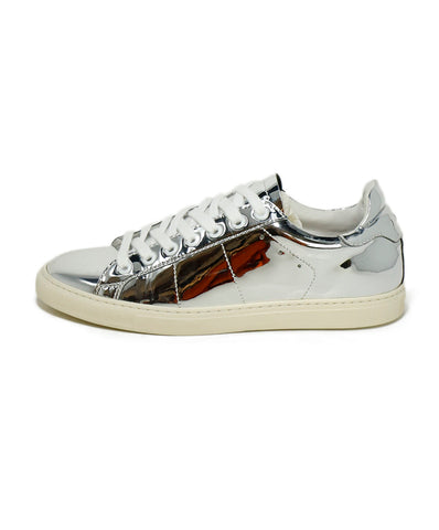IRO Sneakers US 10 Metallic Silver Leather Shoes 1