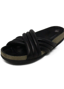 Isabel Marant Black Leather Slide Sandals 1