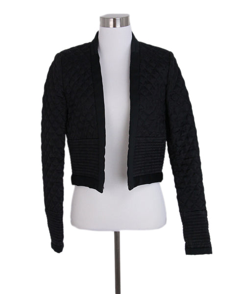 Isabel Marant Black Quilted Silk Damask Jacket 1