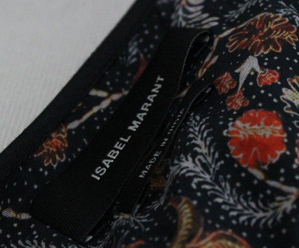Isabel Marant Black Blouse with Orange Floral Print 4